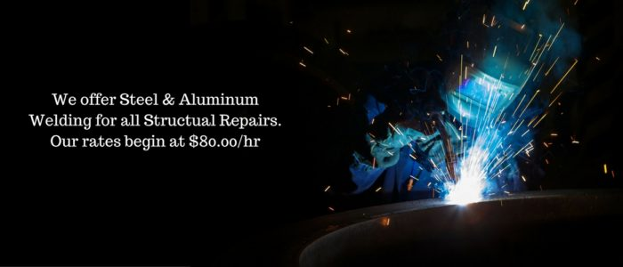 We offer steel & aluminum welding for all structural repairs.