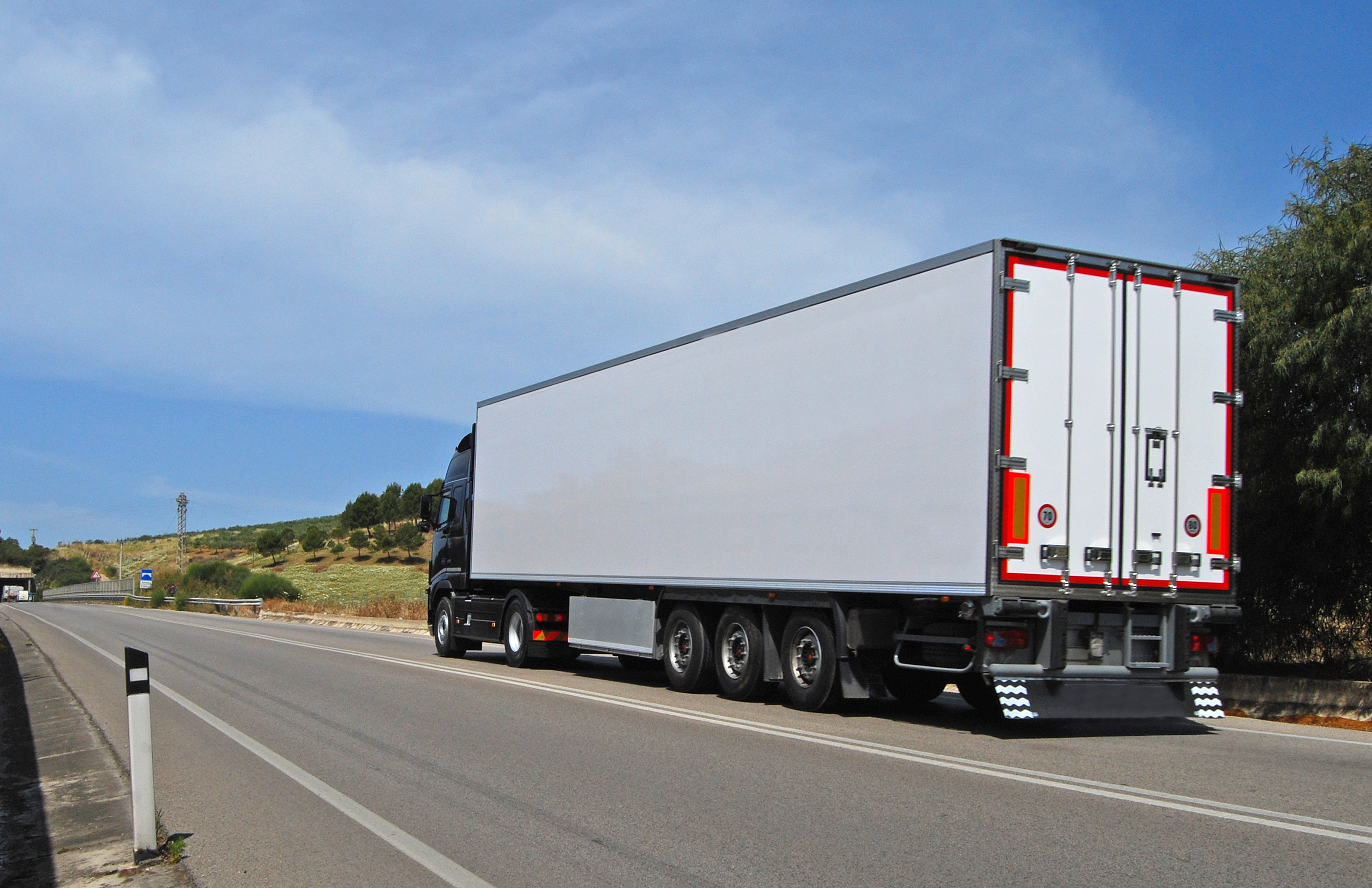 truck with long trailer trucking and logistics