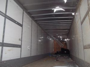 Interior of Damaged Trailer, Repaired by Tech Trailers
